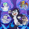 Scratch9 Cat Tails Phone Wallpaper