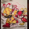 ART: Flash Scratch vs Pawfessor Zoom!