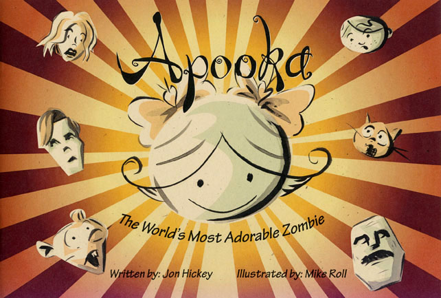 "Cover art to ""Apooka: The Worlds Most Adorable Zombie"""