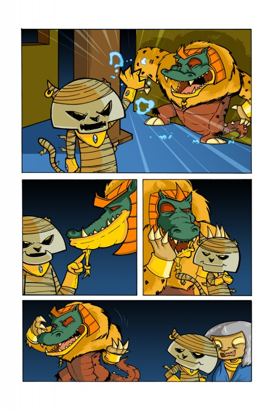 Scratch9: Cat Tails #1 page featuring Bektah by Justin Castaneda