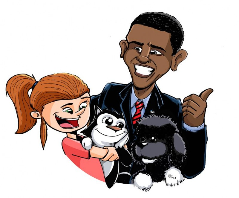 Scratch9 meets Obama in this artwork by Justin Castaneda
