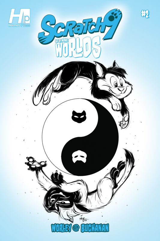 Scratch9: Cat of Nine Worlds #2 - Cover art by Mike Kunkel