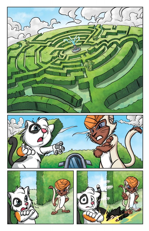 Scratch9: Cat of Nine Worlds page - colors by Digikore Studios