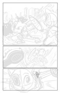 Scratch9: Cat of Nine Worlds page - pencils by Joshua Buchanan