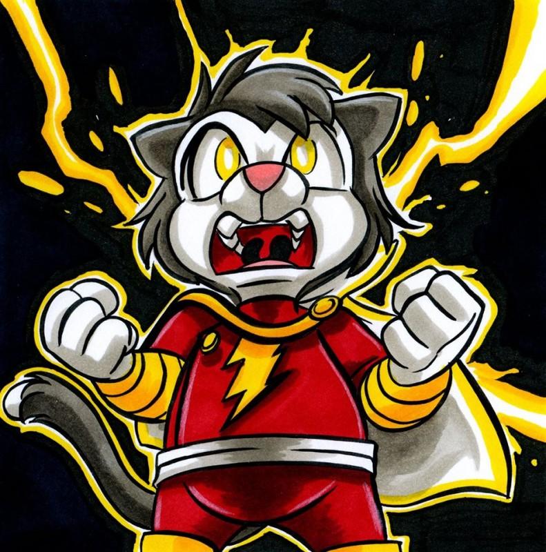 FURZAM! It's Cat'n Marvel by Joshua Buchanan