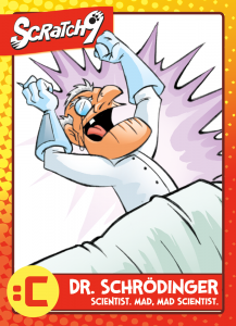 Scratch9 Trading Card #14 - Schrödinger - debuting at Anime California 2016